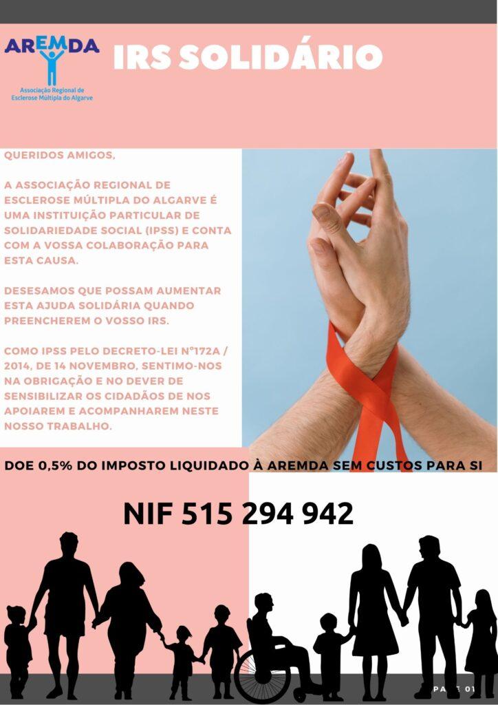 IRS Solidário Página Web